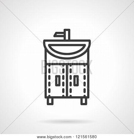 Washstand black line design vector icon
