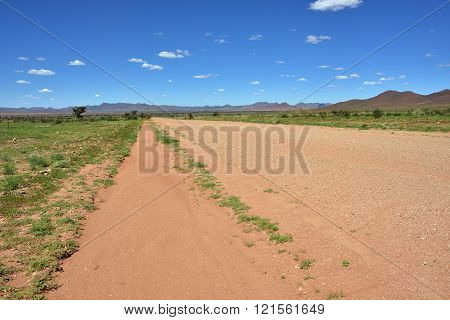 Dirt road in Africa