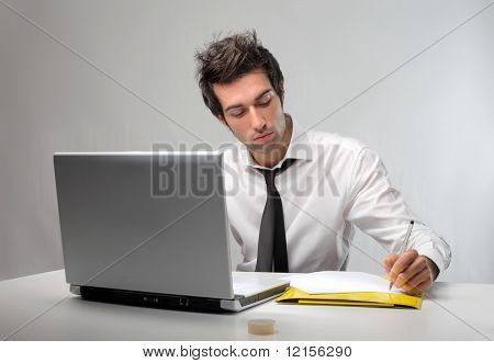 young business man in office