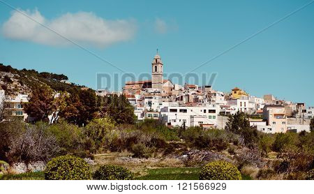 Rossell town. Province of Castellon in the Valencian Community, Spain.