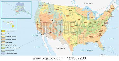 Vegetation Map United States
