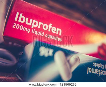 Boxes Of Paracetamol And Ibuprofen