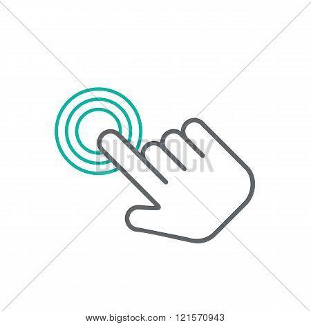 Click hand icon,  click hand icon vector,  flat click hand icon design