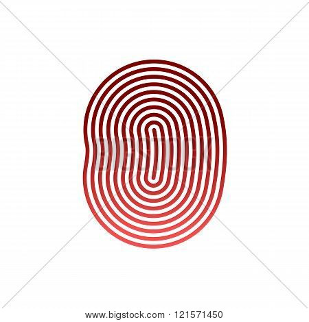 fingerprint Icon Image. Flat. fingerprint icon app