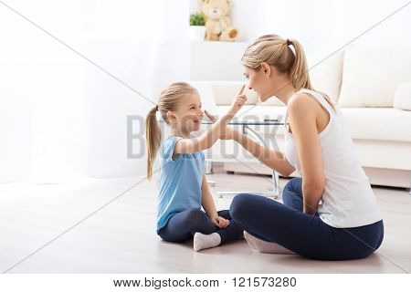 Spending lovely time with her daughter