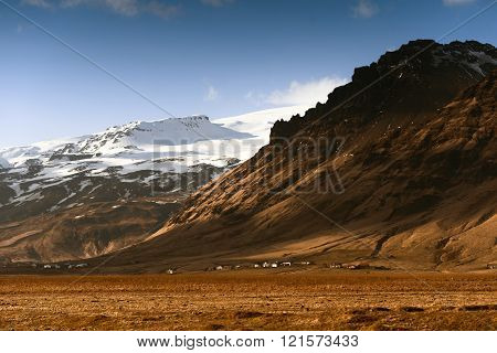 Scenic mountain landscape shot