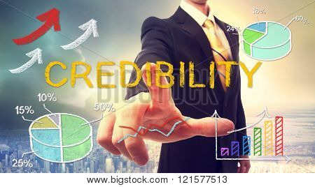 Credibility Concept With Businessman