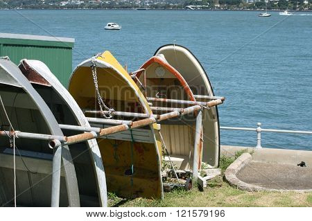 Dinghies on a Rack