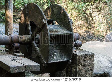 Old Wooden Turbine