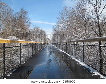 Icy Winter Bridge