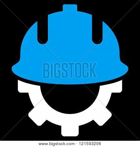 Development Helmet Flat Vector Symbol
