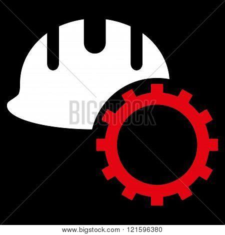 Development Hardhat Flat Vector Symbol