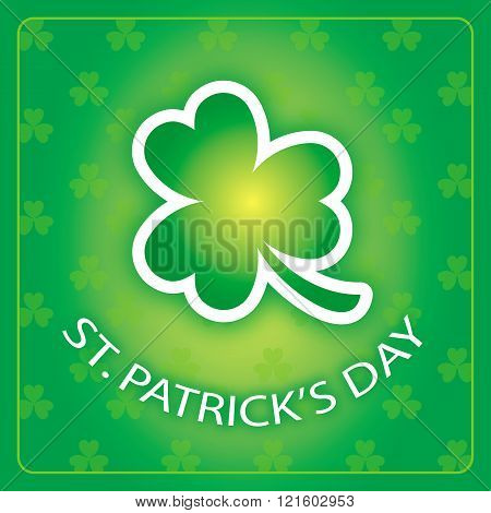 St Patricks Day card with shamrock background 3