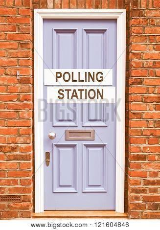 Polling Station Vintage