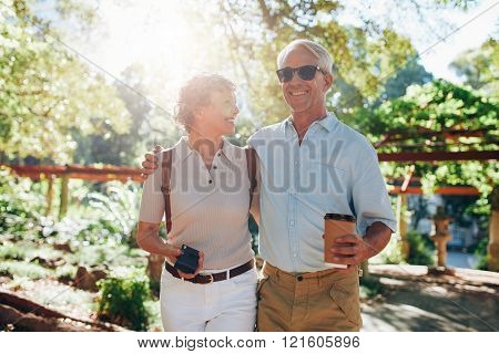Senior Couple On A Vacation