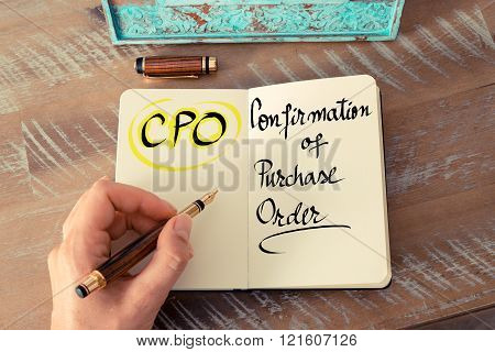 Acronym Cpo As Confirmation Of Purchase Order