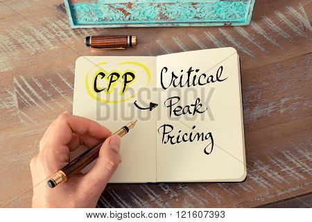 Business Acronym Cpp As Critical Peak Pricing