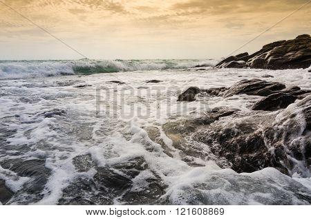 Beach and blue sea