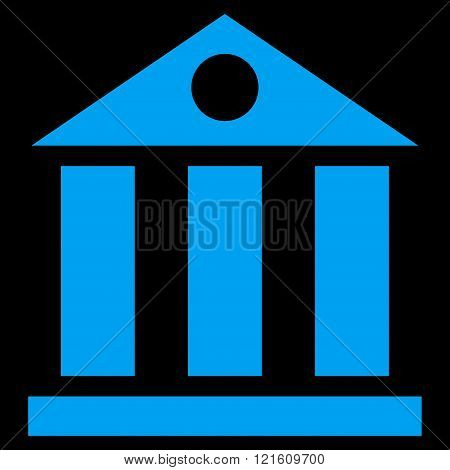 Bank Building Flat Vector Symbol