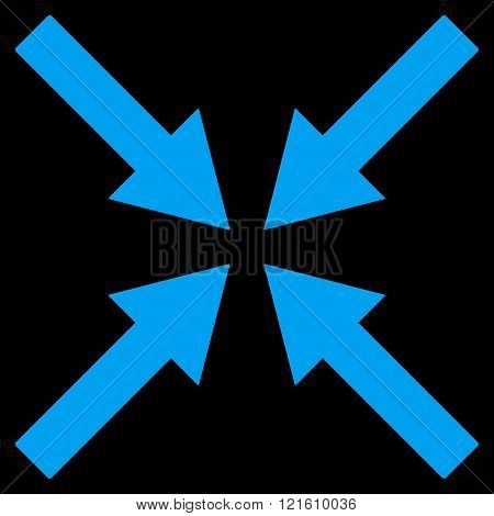 Center Arrows Flat Vector Symbol