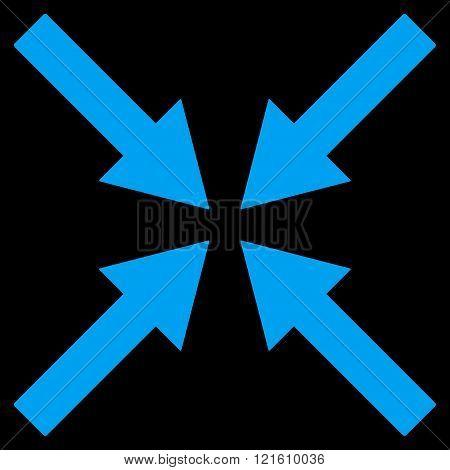 Center Arrows Flat Vector Symbol