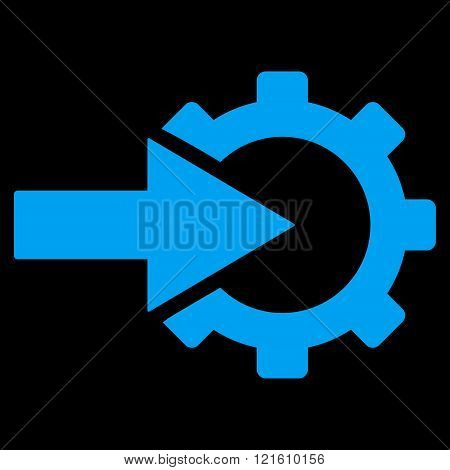 Cog Integration Flat Vector Symbol