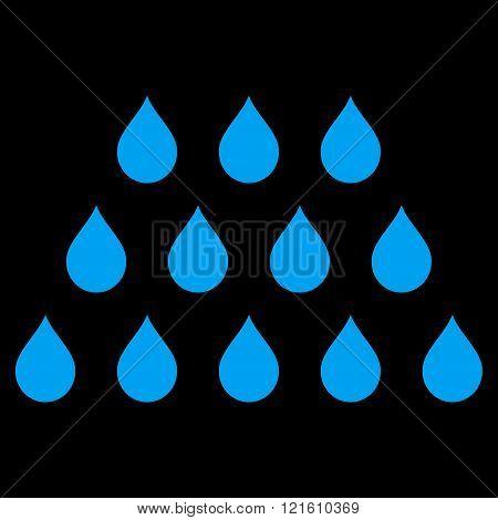 Drops Flat Vector Symbol