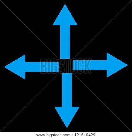 Expand Arrows Flat Vector Symbol