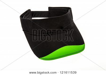 Junior golf black and green visor
