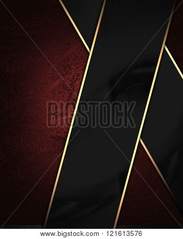 Red Velvet Background With Black Plate. Element For Design. Template For Design. Copy Space For Ad B