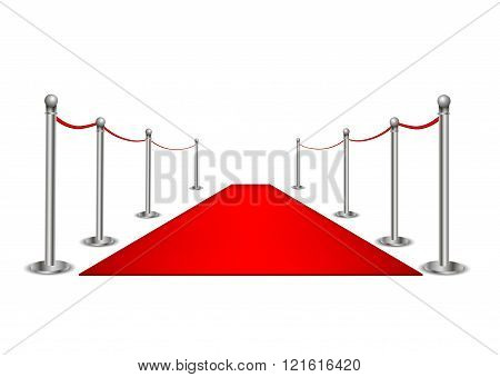 Red Carpet isolated on a white background