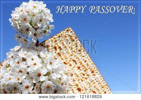 Jewish Holiday Of Passover And Matzo