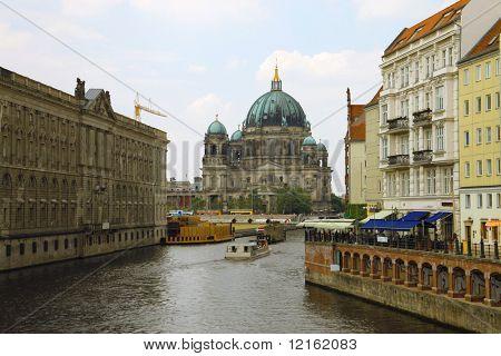 Church on the Spree river in Berlin