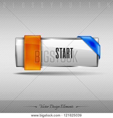 Vector Design Element. Business Web Button For Website Or App.
