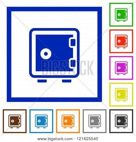 Strong Box Framed Flat Icons