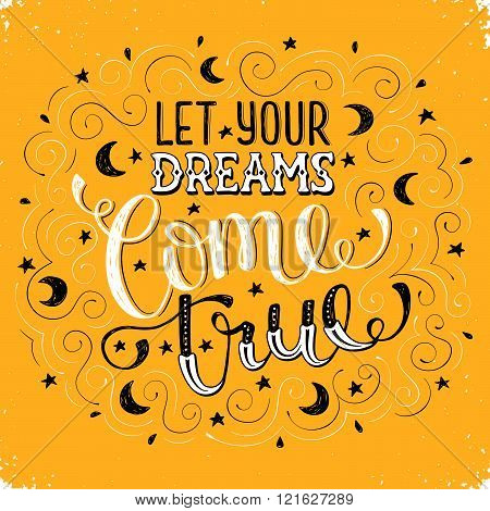Inspirational card about dreams