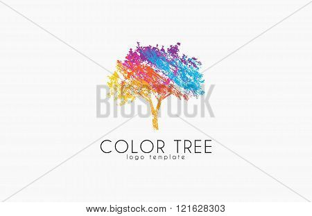 Tree logo. Creative logo. Nature logo. Color tree logo design. Colorful logo