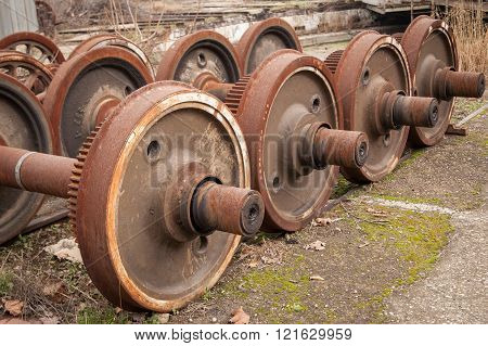 Old Rusty Wheels Of Train