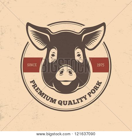 Pig Head Labels