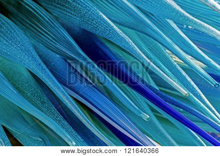 Background With Blue Murano Glass
