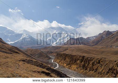 Pamir Mountain Range and Pik Lenin, Kyrgyzstan