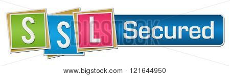 SSL Secured Colorful Squares Horizontal