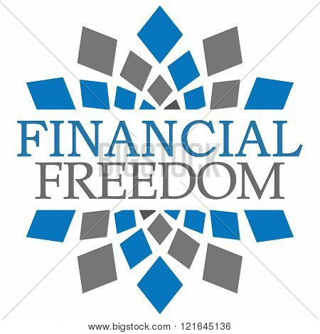 Financial Freedom Blue Grey Elements Square