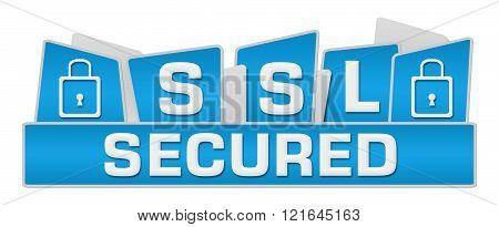 SSL Secured Blue Squares On Top