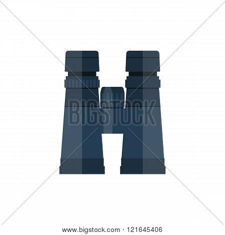 Binocular Icon, Vector Flat Design Style.