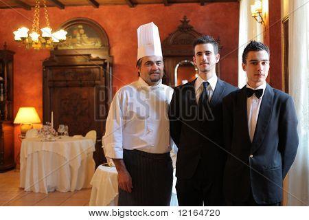 Staff of a luxury restaurant