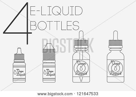 4 Thin Lines E-liquid Bottles