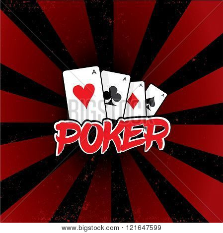 Poker Tournament Vector Logo Template