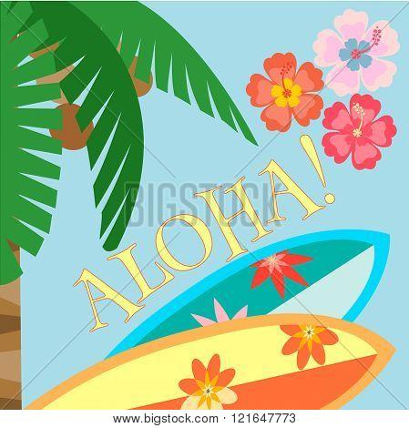 Aloha! Hawaii Beach Poster