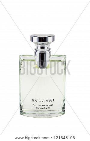 Bangkok, Thailand - March 13, 2016: Bvlgari Luxury Perfumes. Bvlgari Italian Company Producing Luxur
